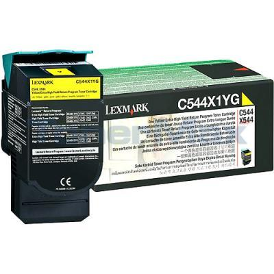 LEXMARK C544 X544 TONER CARTRIDGE YELLOW RP 4K